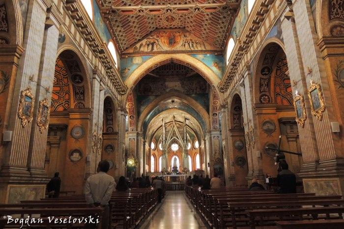 Interior of Santo Domingo Church