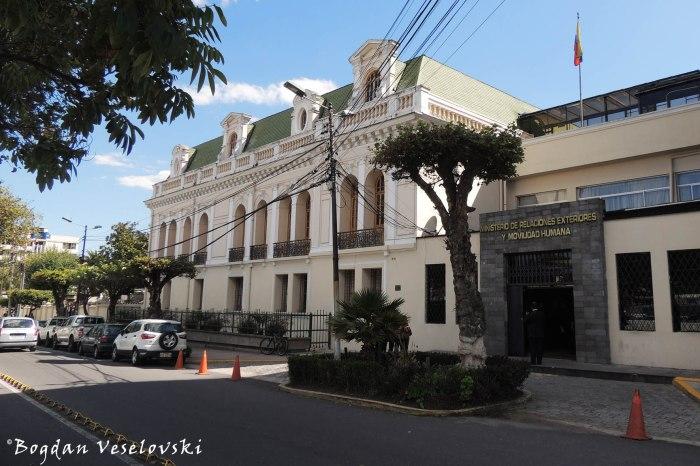 J. Carrión - Ministerio de Relaciones Exteriores y Movilidad Humana