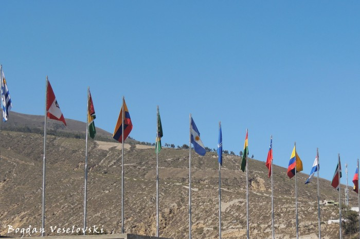 Latin American flags