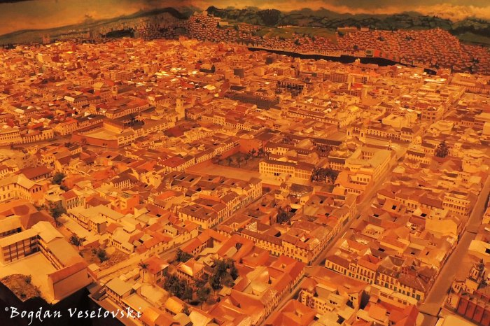Scale model of Quito's historical centre