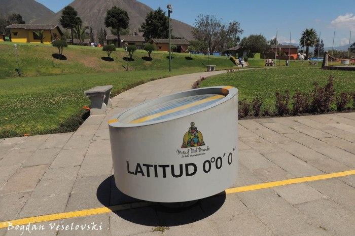 Latitude 0°0'0''