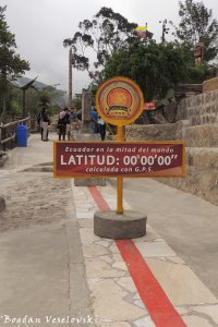 The 'authentic' equator line (calculated by GPS)