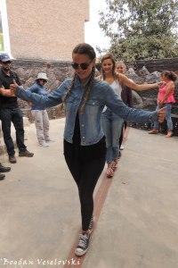 Hard to keep your balance on the equator